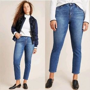Ella Moss High Waist Straight Leg Jeans 8